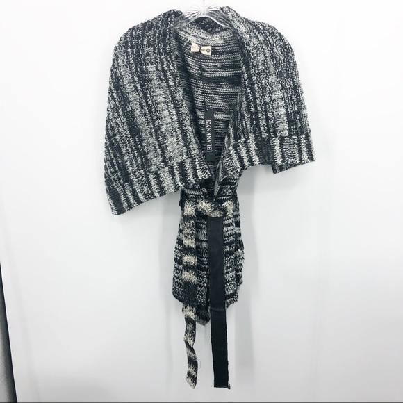 Blank NYC Belted Sleeveless Cardi Sweater NWT
